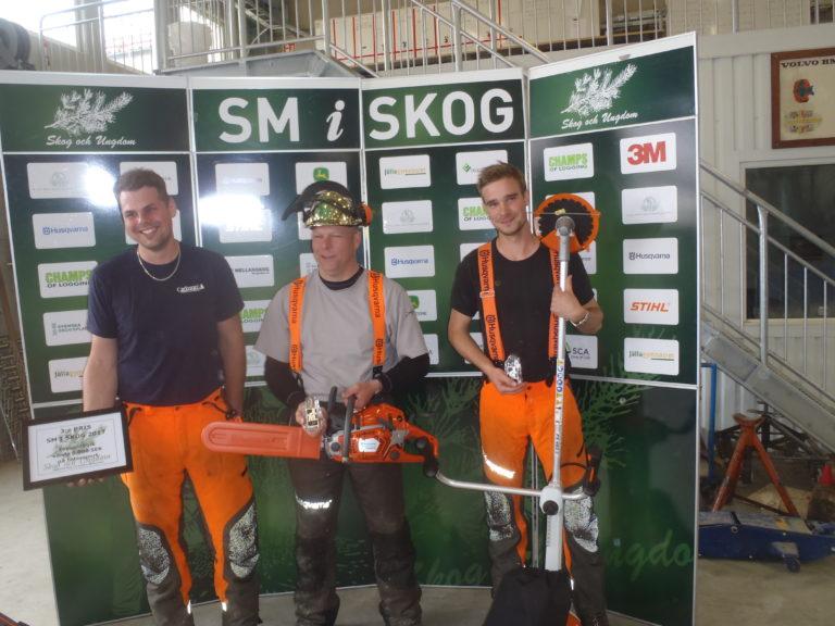 Vinnare från SM- klassen; 1:a Lars Ehn, 2:a Robin Jakobsson, 3:a Gustav Carlsson